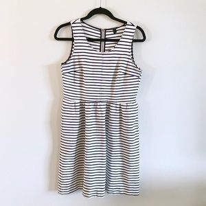 J Crew | Navy Striped Midi Dress Sz 2